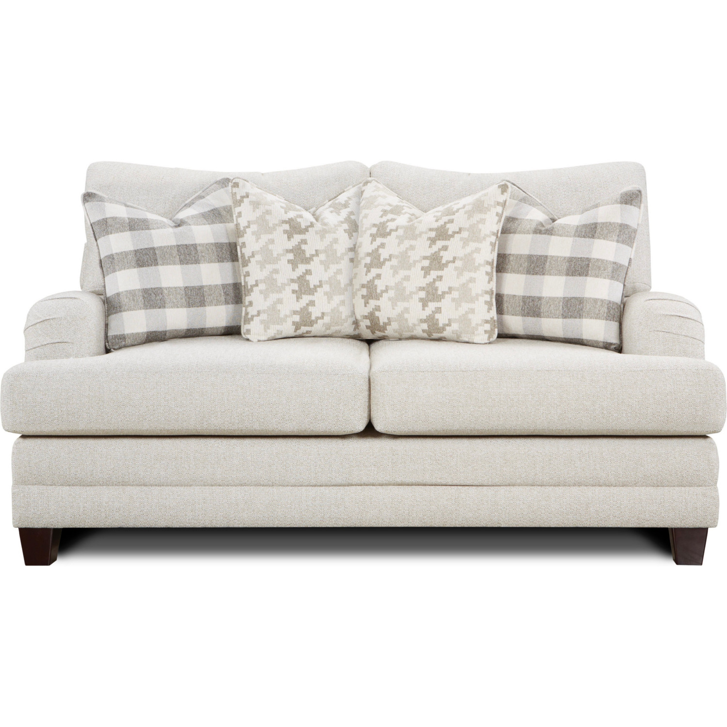 Picture of: Southern Furniture 4481 Basic Wool Loveseat Basic Traditional Wool Loveseat In Off White Performance Wool Like Fabric W Pillows