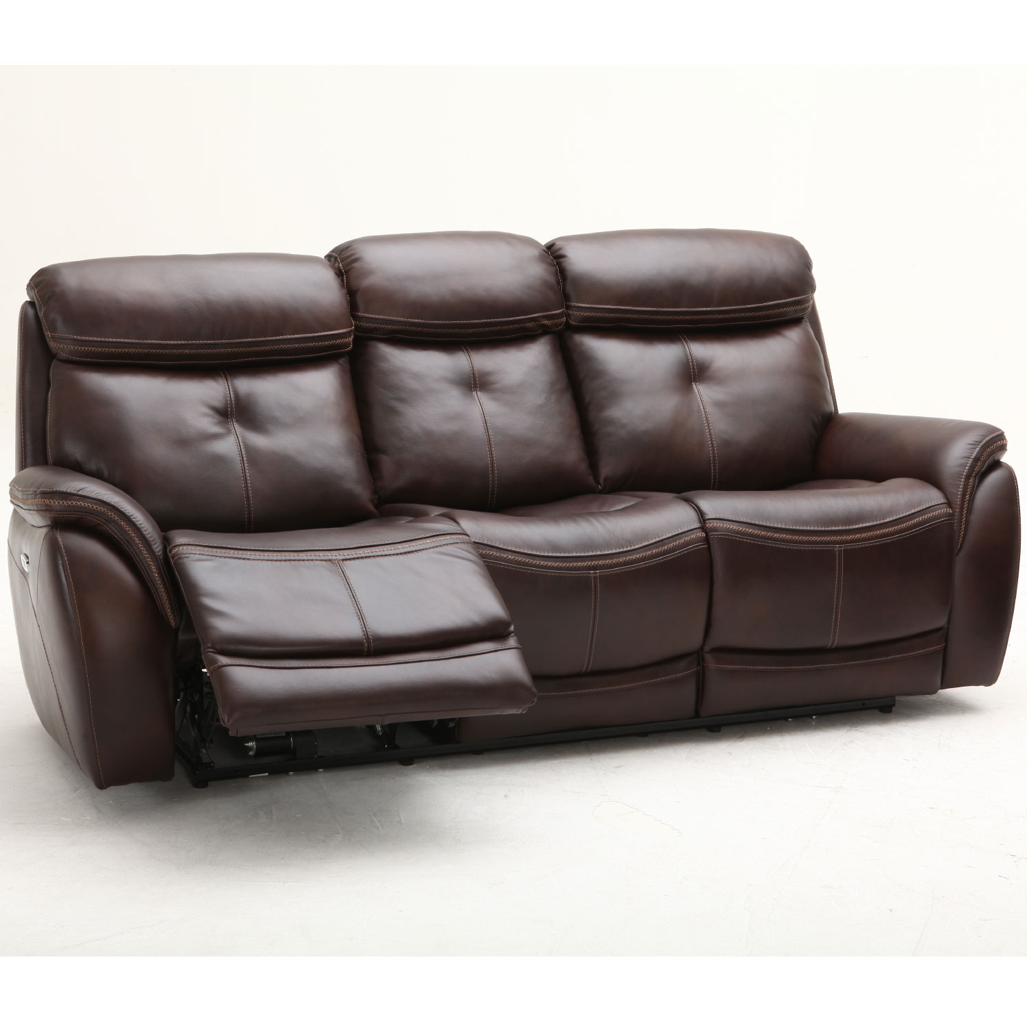 Pleasant Homerun Reclining Sofa W Power Headrest In Brown Top Grain Leather By Southern Motion Download Free Architecture Designs Xoliawazosbritishbridgeorg