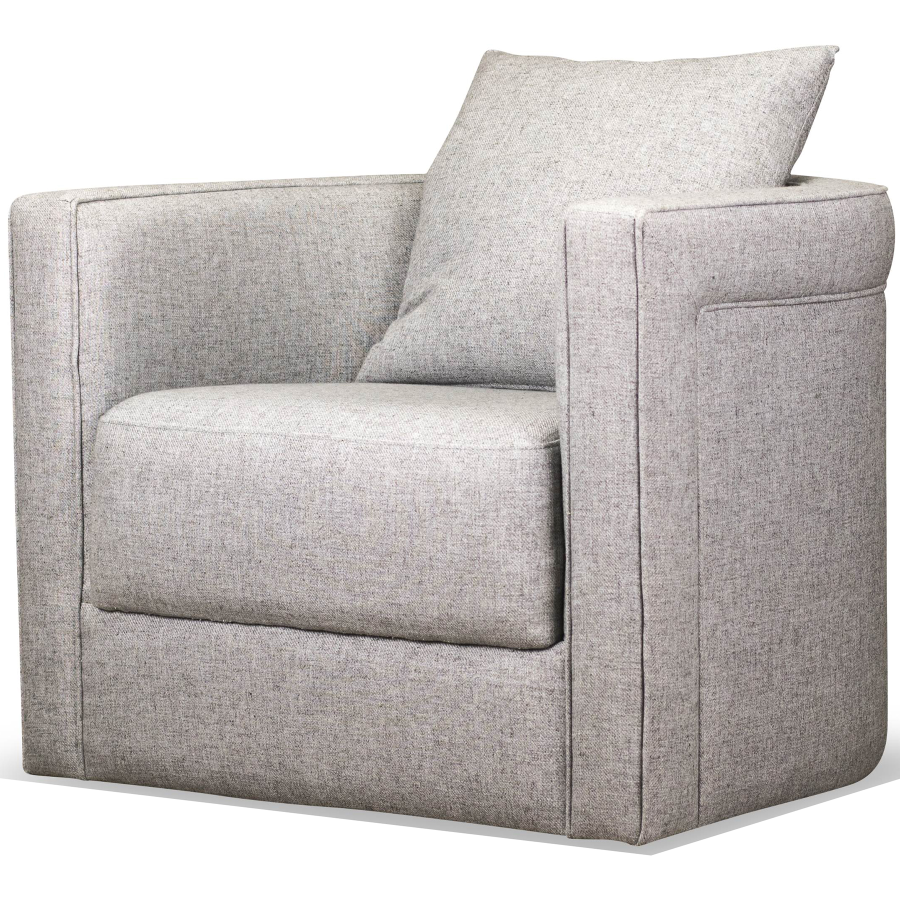 Awe Inspiring Adrian Swivel Accent Chair In Durbin Light Grey Fabric By Spectra Home Furnishings Machost Co Dining Chair Design Ideas Machostcouk