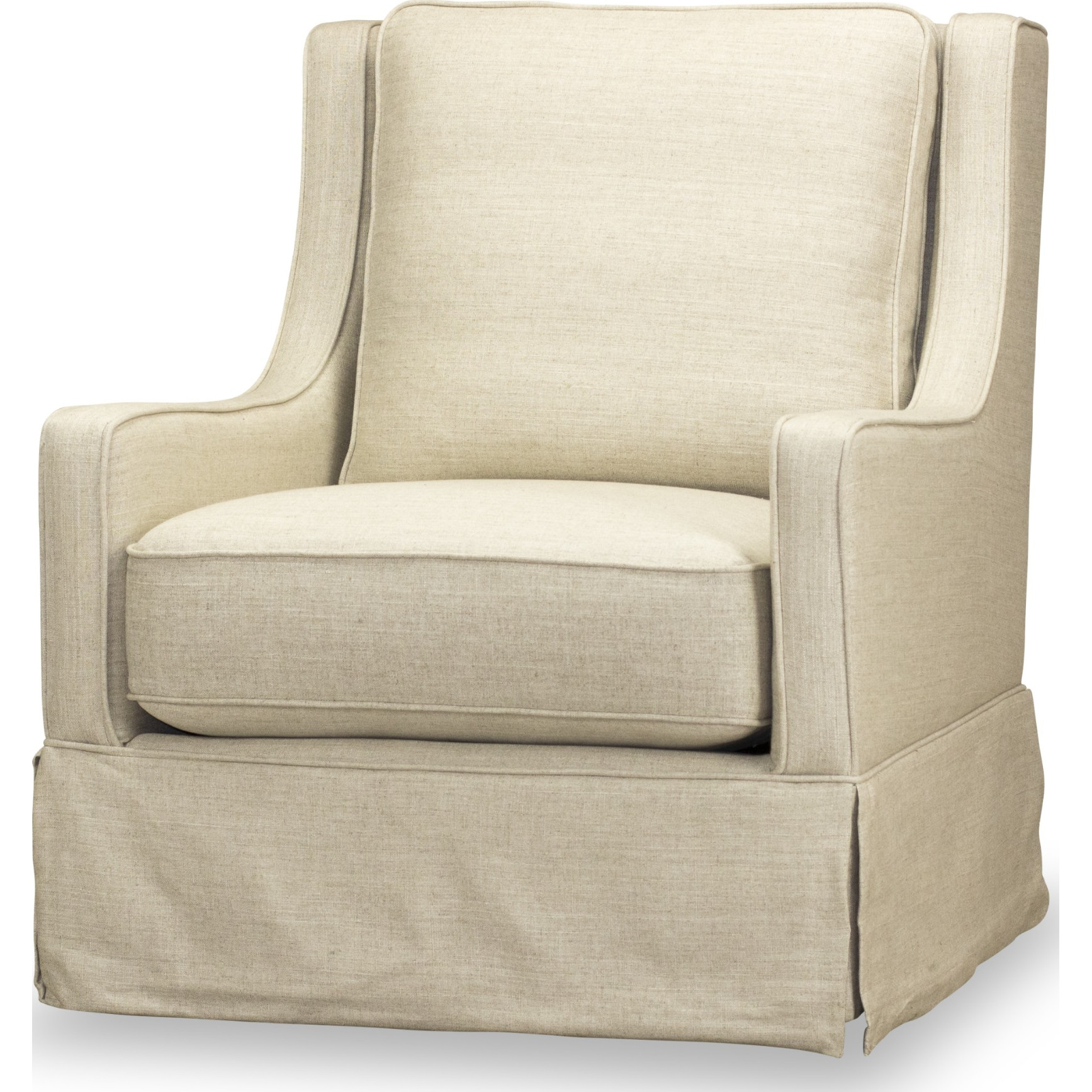 Cool Kelly Swivel Glider Accent Chair In Winfield Natural Fabric By Spectra Home Furnishings Unemploymentrelief Wooden Chair Designs For Living Room Unemploymentrelieforg