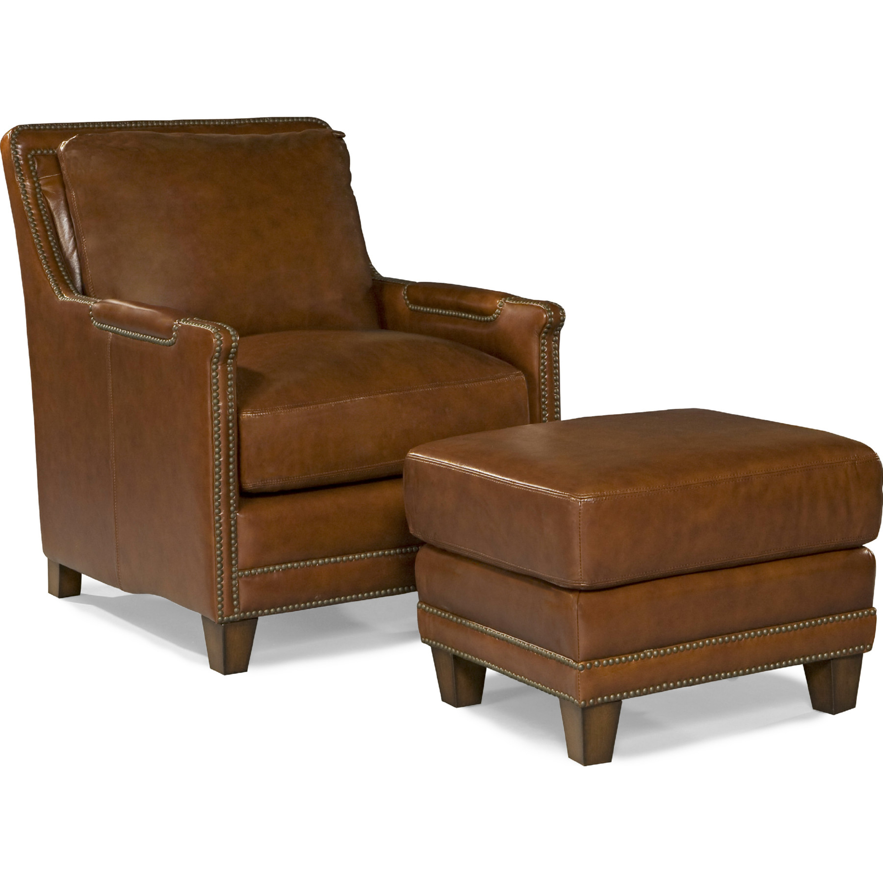 Outstanding Prescott Accent Chair In Saddle Brown Top Grain Leather By Spectra Home Furnishings Creativecarmelina Interior Chair Design Creativecarmelinacom
