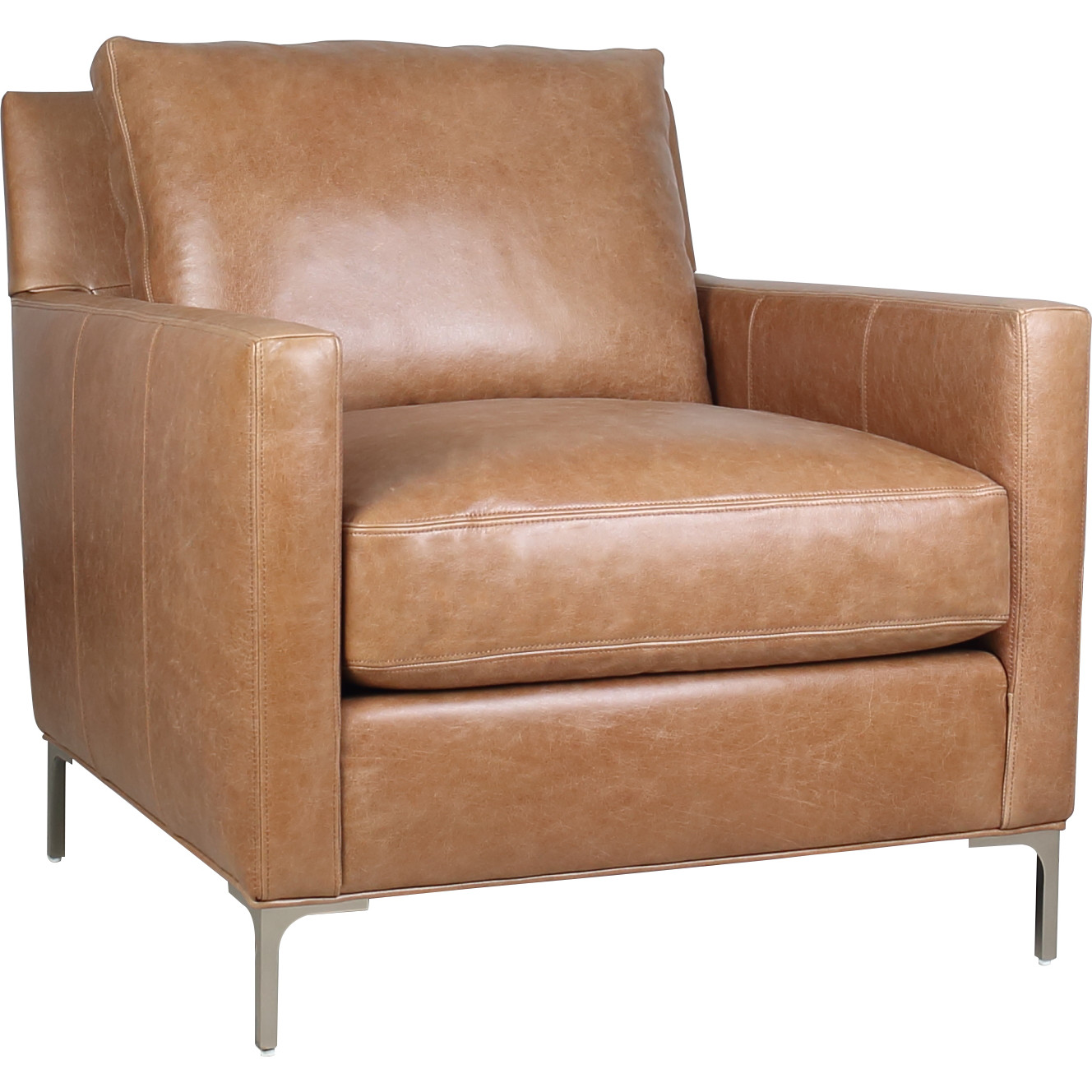cognac accent chair