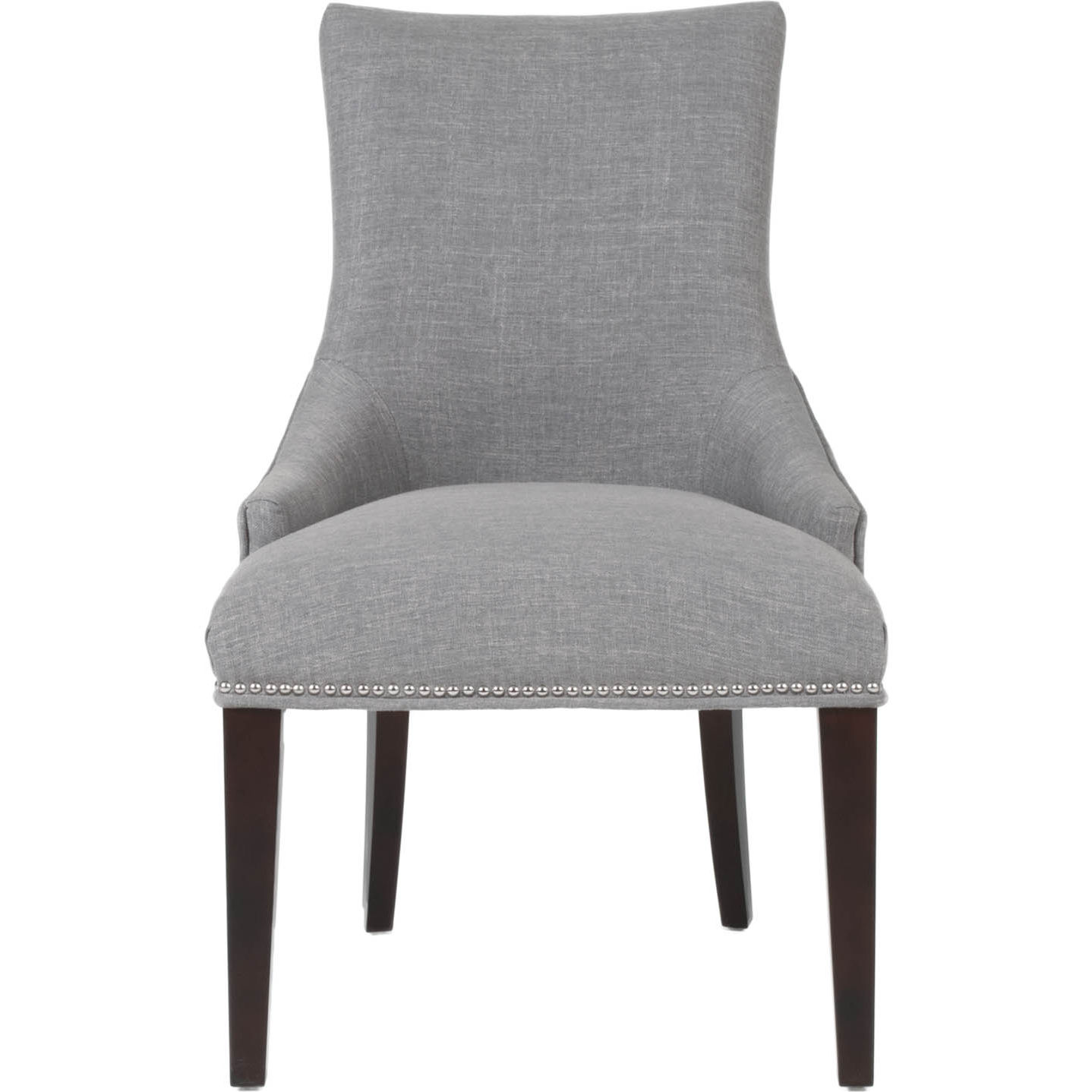 Avenue Dining Chair In Smoke Fabric W Tufted Back Nailhead By Orient Express Furniture