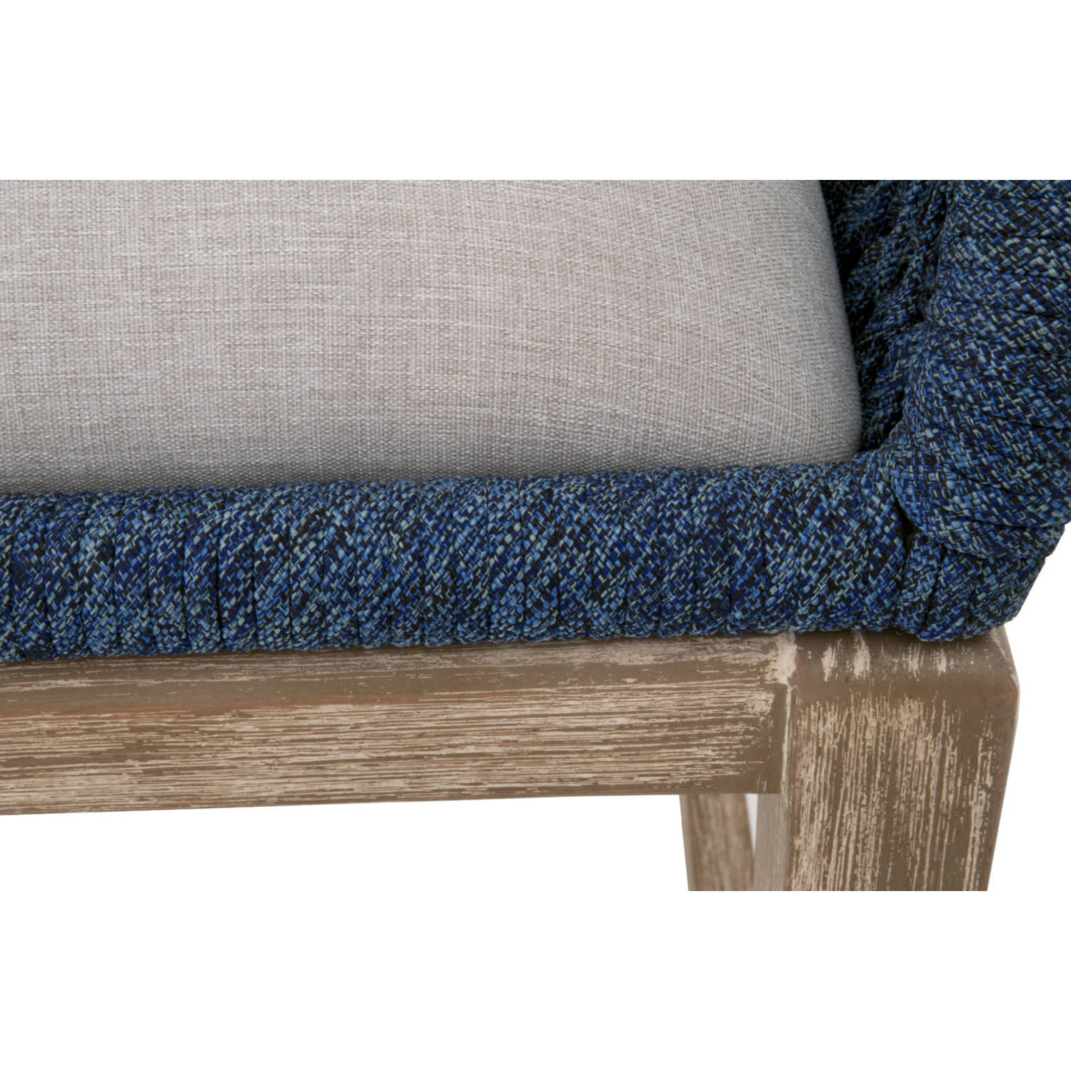 Peachy Loom Counter Stool In Indigo Blue Rope Wood Fabric By Orient Express Furniture Machost Co Dining Chair Design Ideas Machostcouk