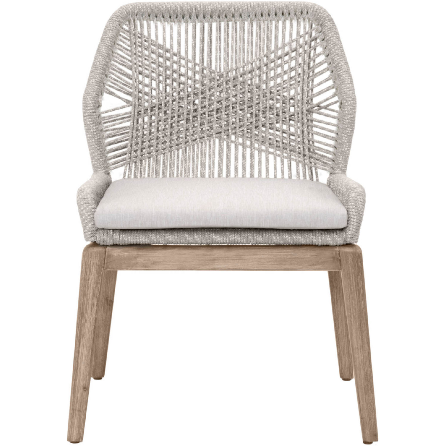 Terrific Loom Dining Chair In Taupe White Rope Grey Fabric Set Of 2 By Orient Express Furniture Theyellowbook Wood Chair Design Ideas Theyellowbookinfo