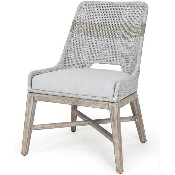 Efl 6850 Wta Pum Ng Tapestry Dining Chair In Taupe Amp White