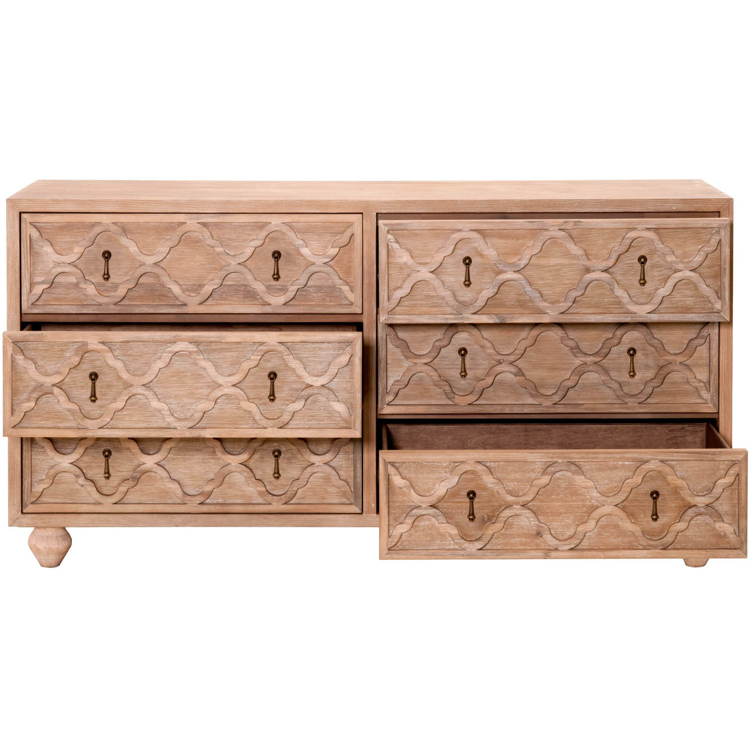 Orient Express Furniture Trellis Double Dresser In Stone Washed Acacia  Veneer. Tap To Expand