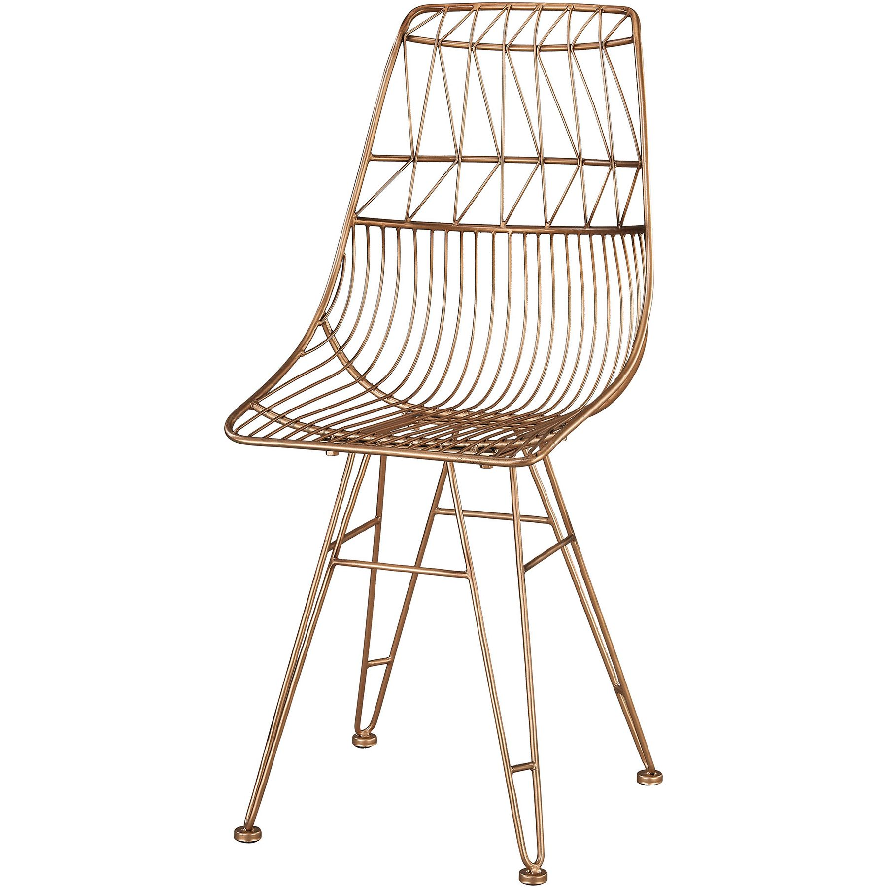 Sterling Industries 3138 266 Jette Accent Chair In Rose Gold Geometric  Pattern Metal