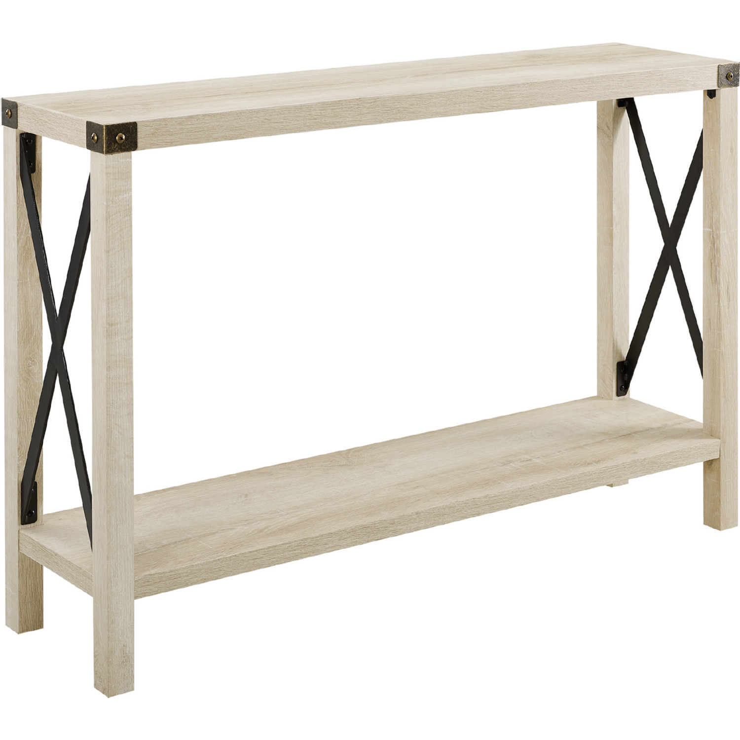 Picture of: Walker Edison Af46mxetwo 46 Rustic Farmhouse Entryway Console Table In White Oak