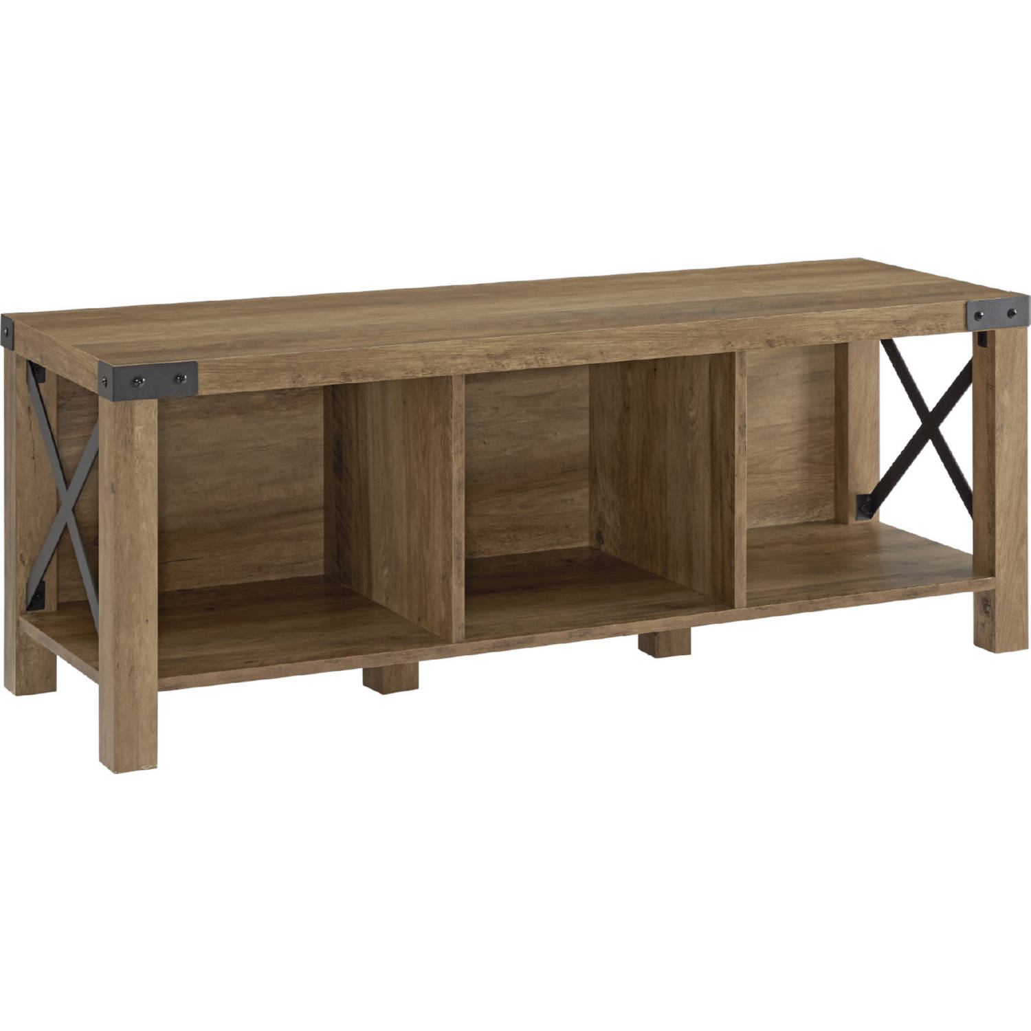 Miraculous 48 Farmhouse Wood Metal Entry Bench In Reclaimed Barnwood By Walker Edison Gmtry Best Dining Table And Chair Ideas Images Gmtryco