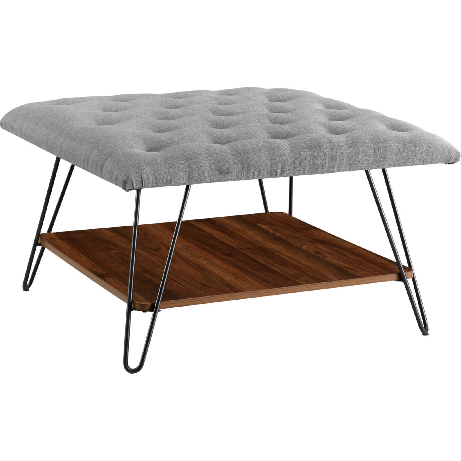 Picture of: Walker Edison Ch30marotgy 30 Mid Century Modern Ottoman In Tufted Grey Linen