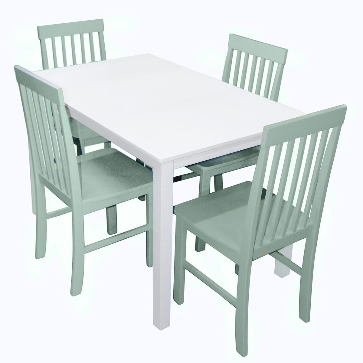 Greyson 5 Piece Dining Set W White Table Sage Green Chairs By Walker Edison