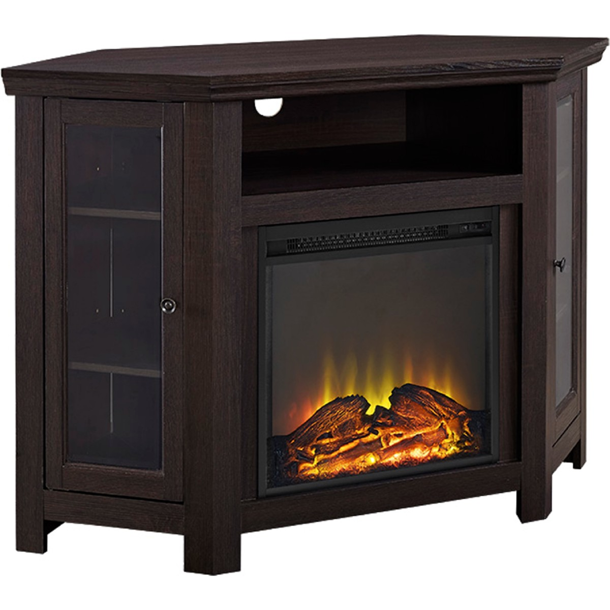 Walker Edison W48fpcres 48 Quot Corner Fireplace Tv Stand In