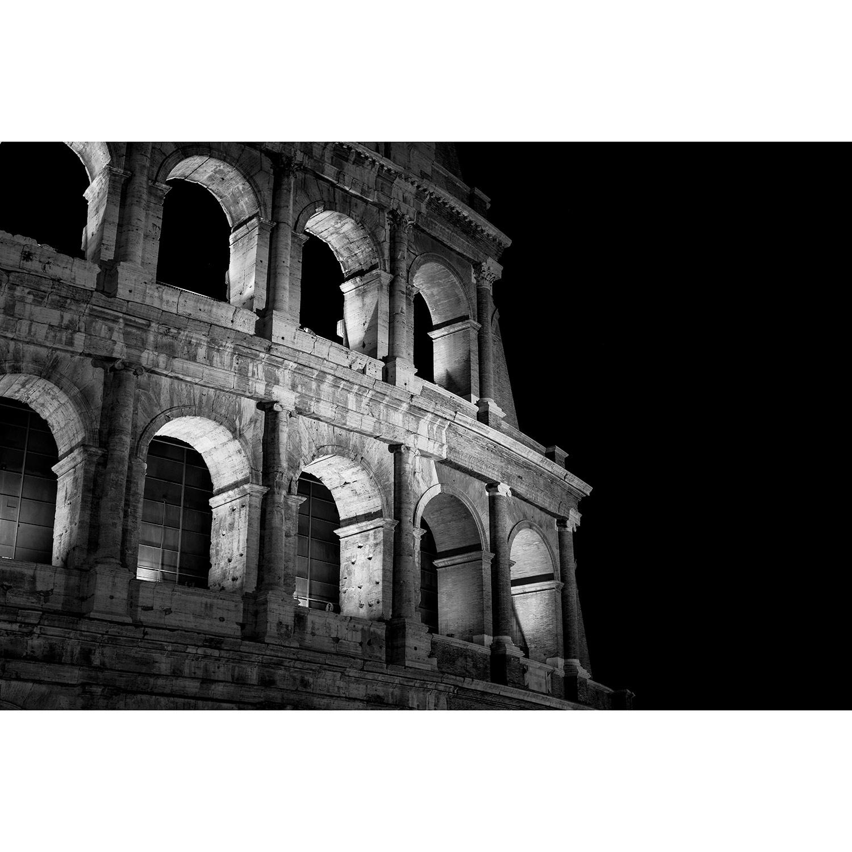 Whiteline aw1582 coliseum 36 x 48 acrylic painting in black white