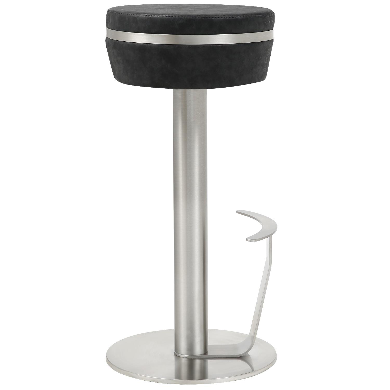Cool Remy Backless Bar Stool In Black Stainless Steel By Whiteline Modern Living Uwap Interior Chair Design Uwaporg