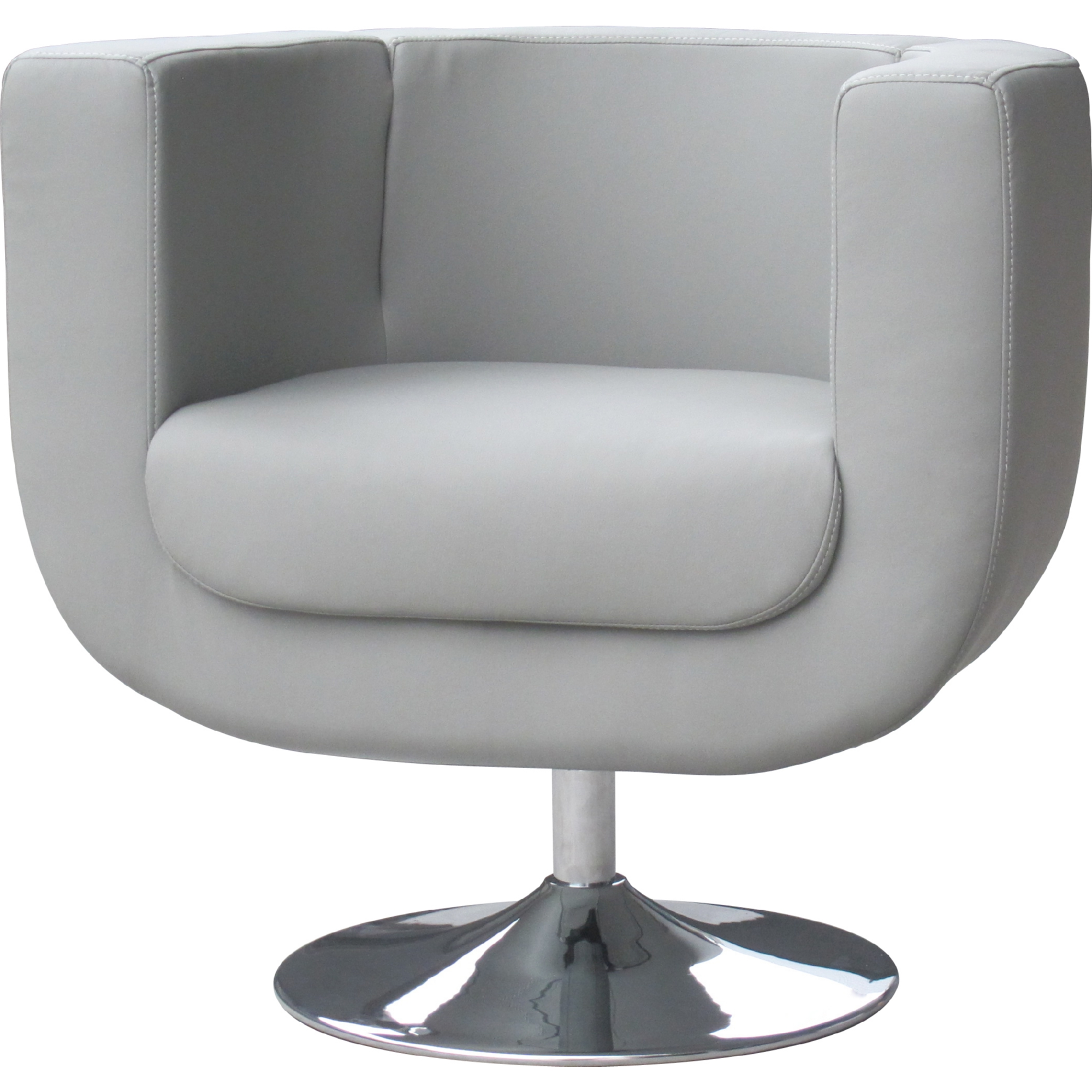 Whiteline Imports CH1017P GRY Bliss Swivel Accent Chair in Grey