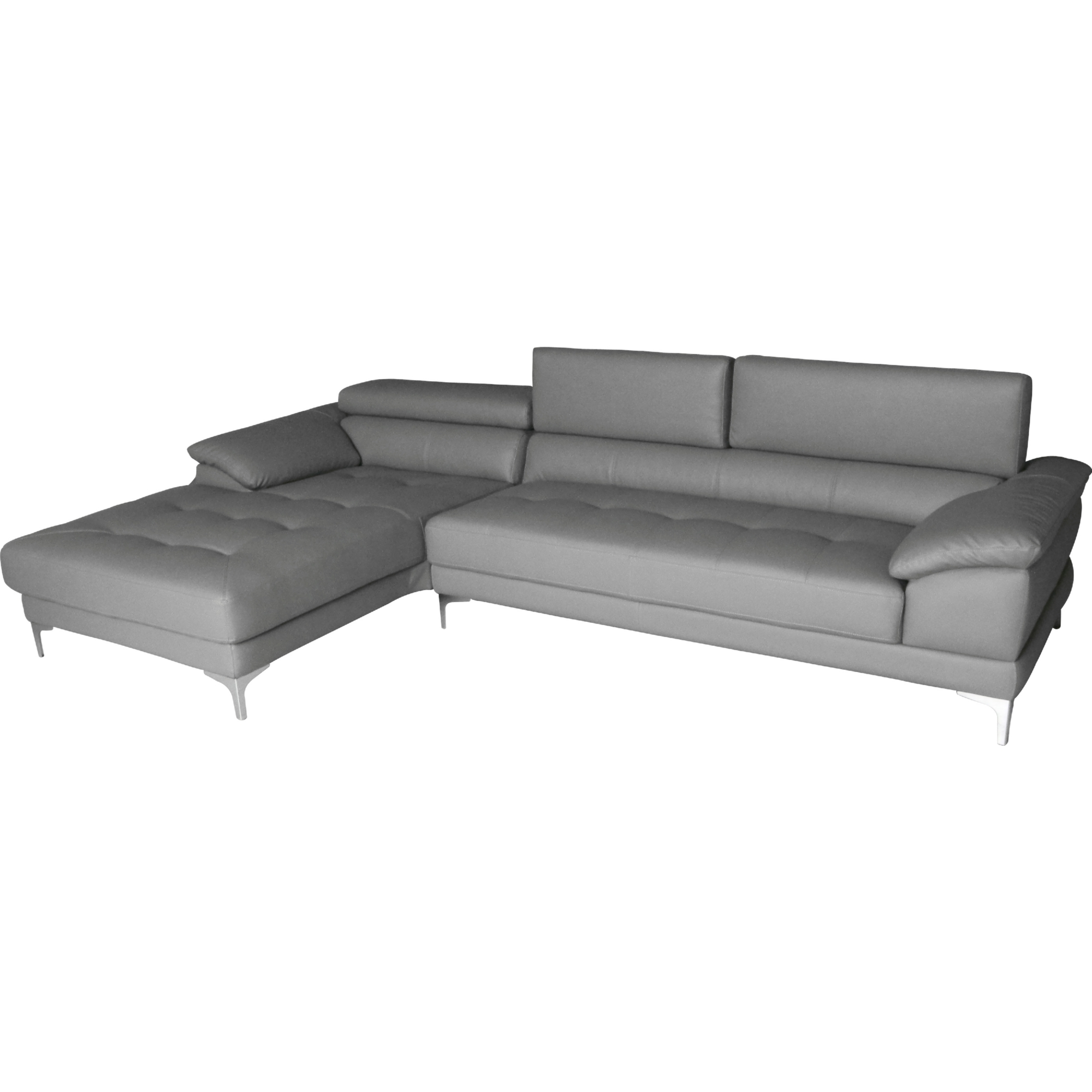 Whiteline Imports SL1342P GRY Monroe Sectional Sofa w Chaise on