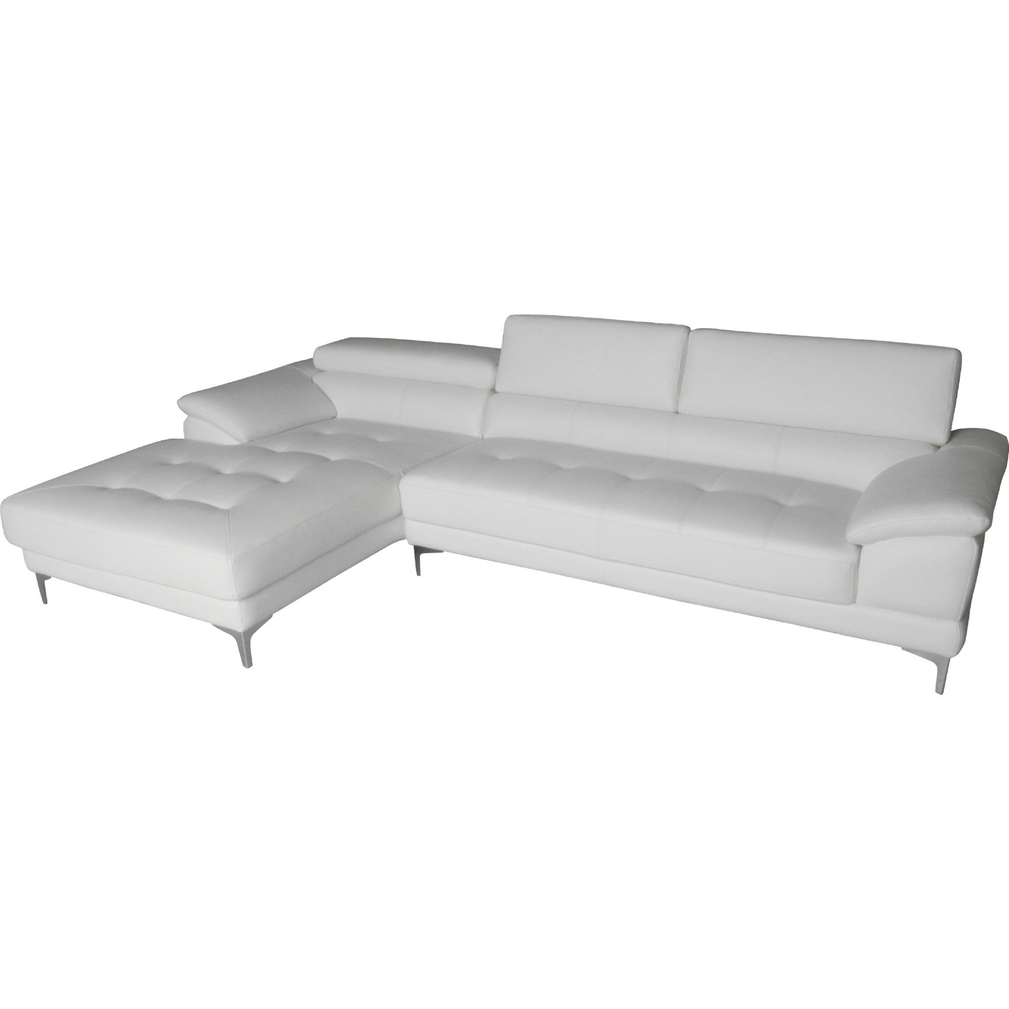 Whiteline Imports SL1342P WHT Monroe Sectional Sofa w Chaise on
