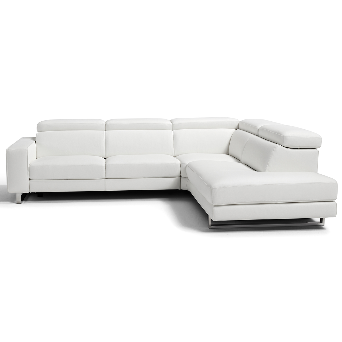 Awesome Augusto Large Sectional Sofa W Right Facing Chaise In White Top Grain Leather By Whiteline Imports Gmtry Best Dining Table And Chair Ideas Images Gmtryco