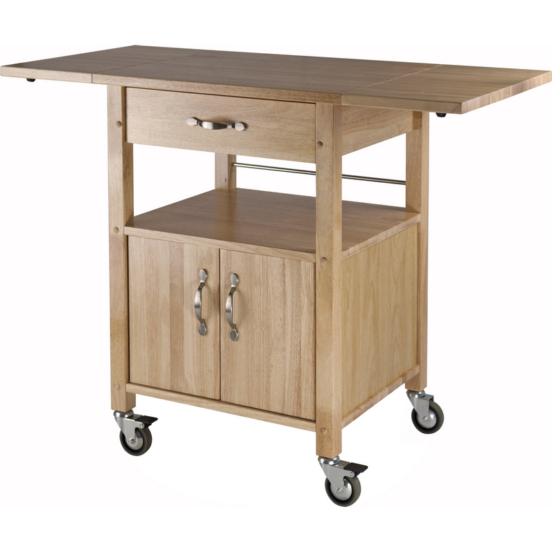 Winsome 84920 Kitchen Cart Double Drop Leaf Cabinet W