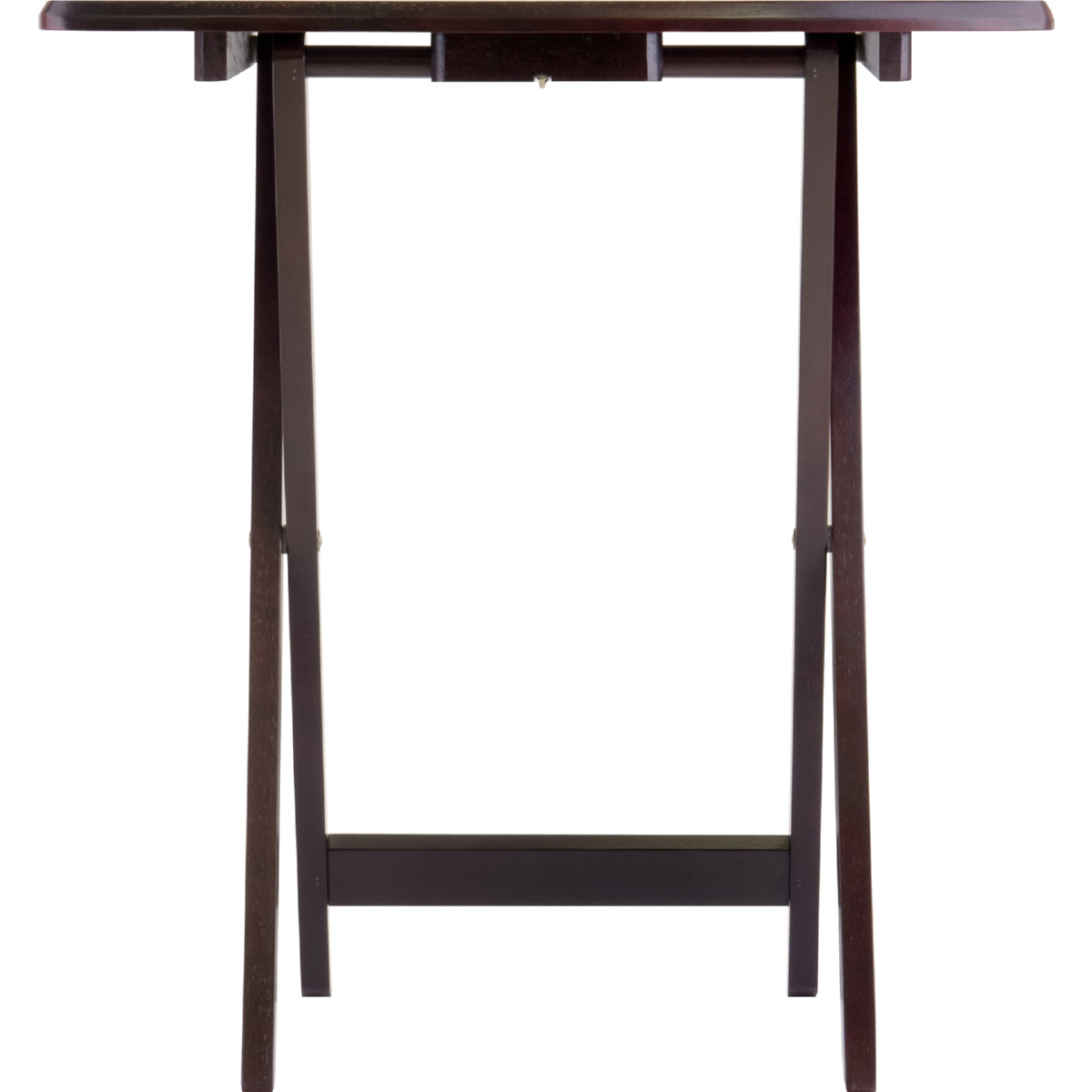 Winsome 92517 Dylan 5 Piece Oversize Snack TV Table Set in Espresso Wood