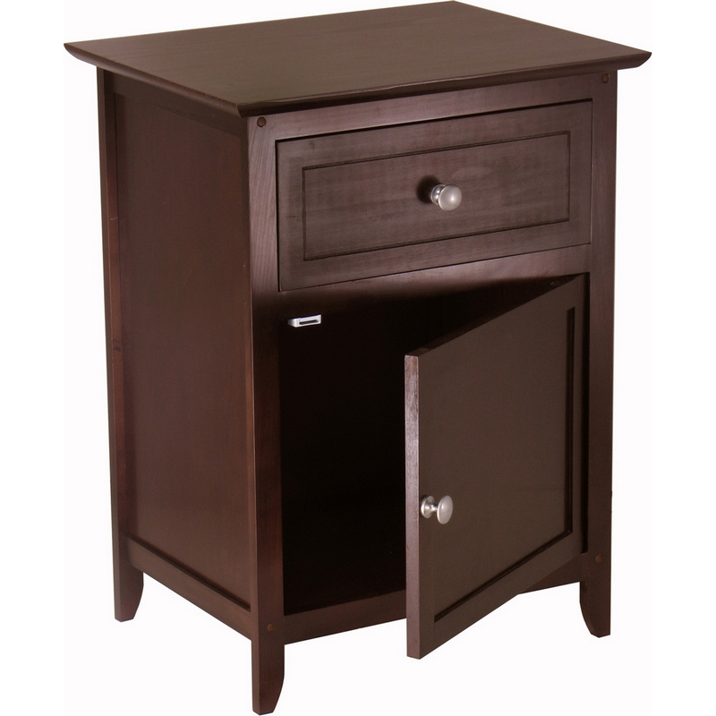 Winsome 92815 End Table Or Night Stand In Dark Espresso
