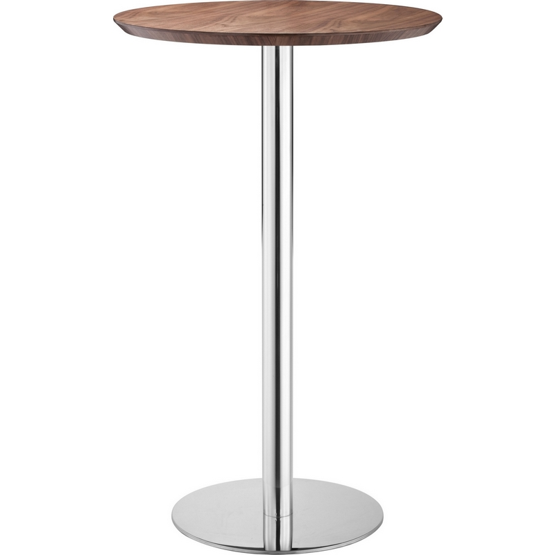 Zuo modern 100053 bergen bar table walnut for Table bergen