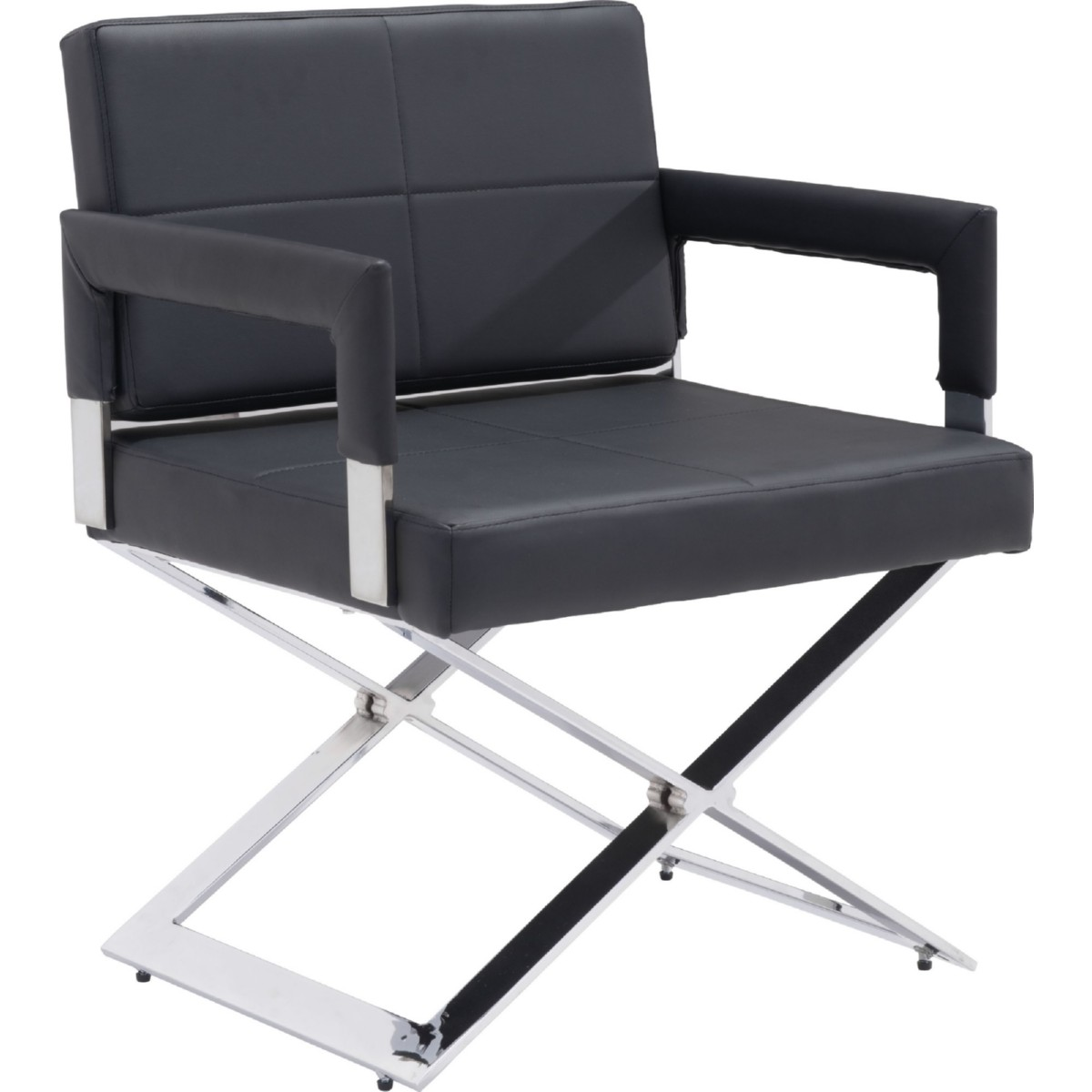 Zuo Modern 100357 Yes Dining Chair in Black Leatherette on Chrome ...