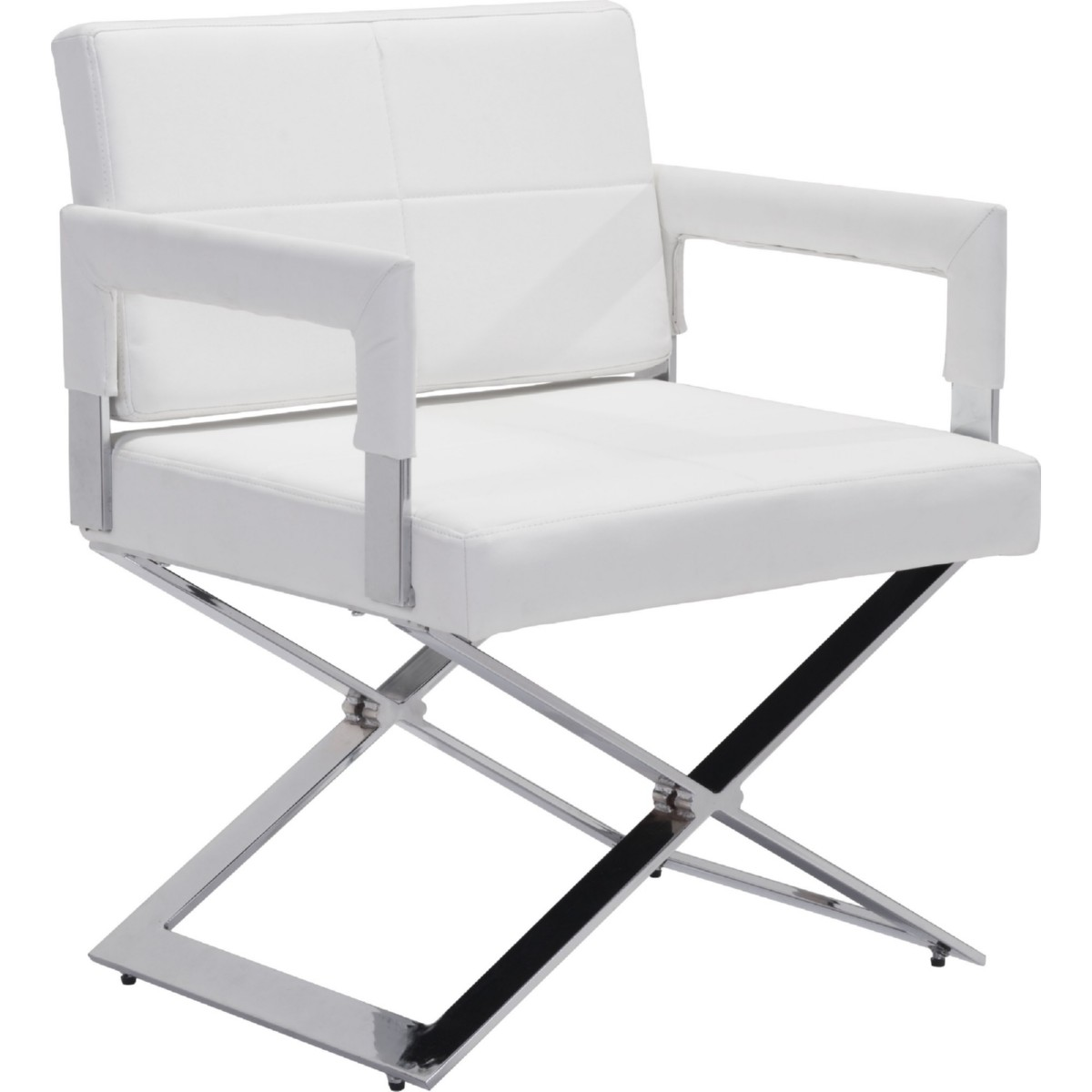 Zuo modern furniture 100383 yes dining chair in white for White chrome dining chairs
