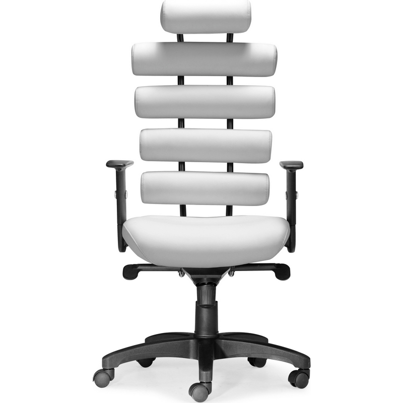 Zuo Unico Office Chair in White Leatherette u0026 Painted Metal  sc 1 st  Dynamic Home Decor & Zuo 205051 Unico Office Chair in White Leatherette u0026 Painted Metal