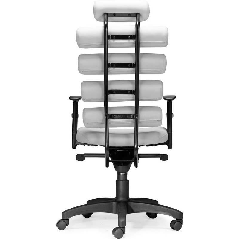 Zuo Modern Furniture Unico Office Chair In White Leatherette U0026 Painted Metal