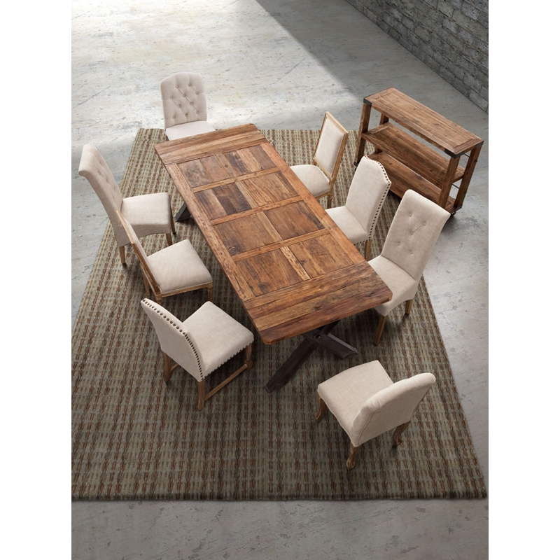 Zuo Modern Haight Ashbury Dining Table In Distressed Natural Fir Wood
