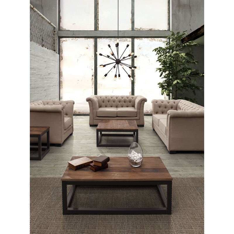 Zuo Modern Civic Center Square Coffee Table In Distressed Natural Fir Wood