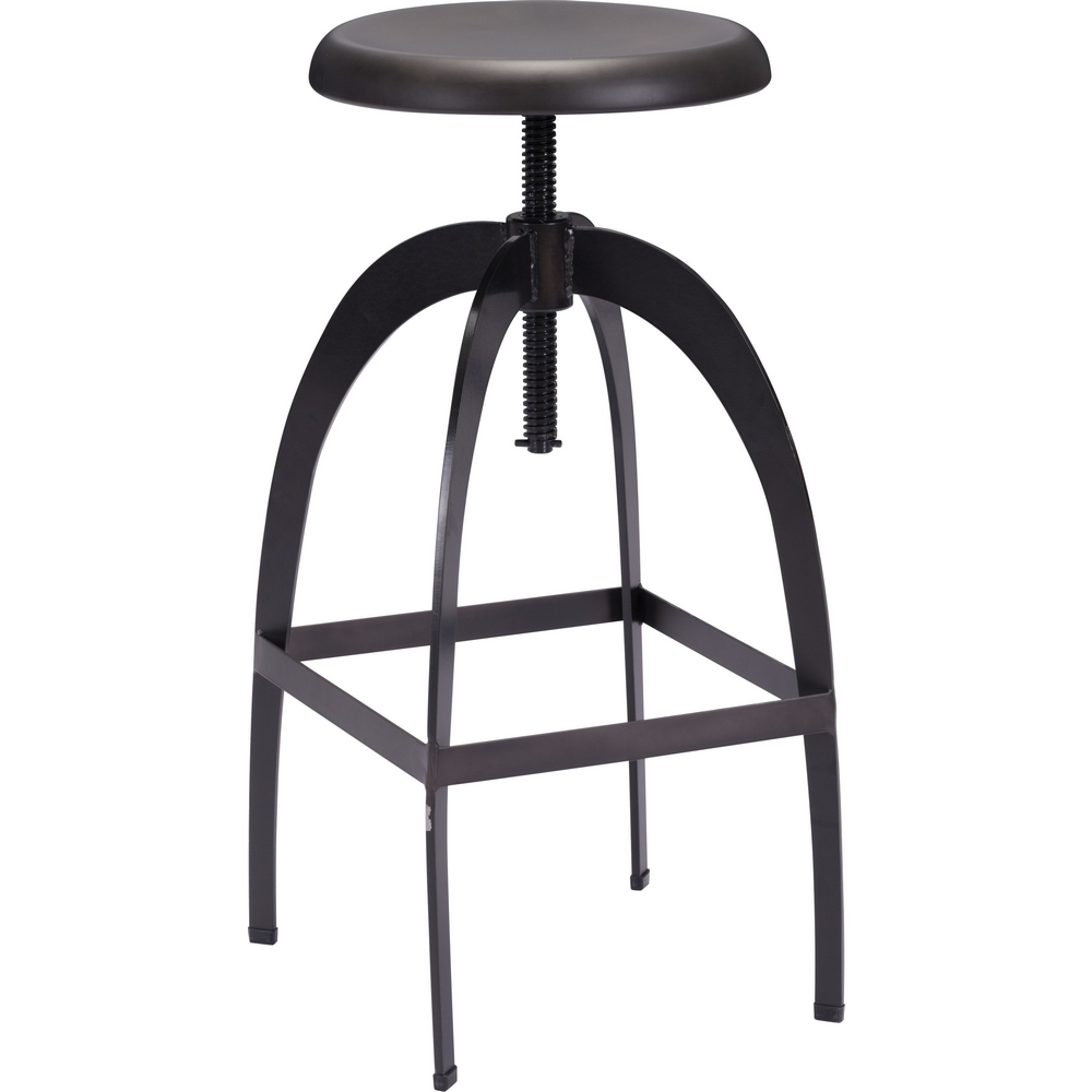 Aristotle Adjustable Height Bar Stool in Antique Black Metal  sc 1 st  Dynamic Home Decor & Zuo Modern 98186 Aristotle Adjustable Height Bar Stool in Antique ... islam-shia.org