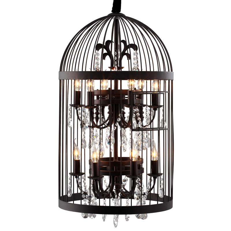 Zuo 98240 Canary Bird Cage Chandelier Iron W Crystals In