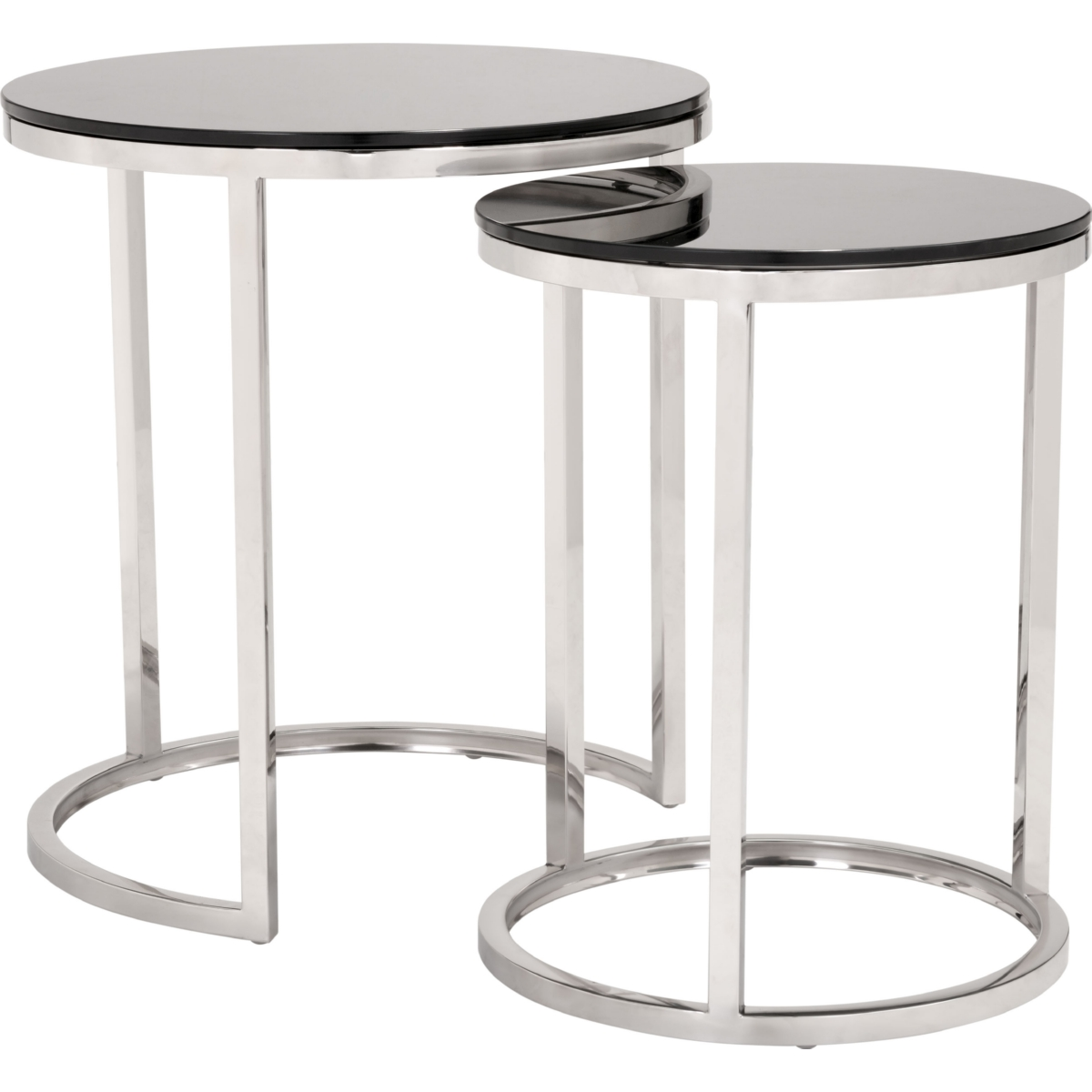 Zuo Modern Rem Coffee Table Set in Black Tempered Glass on