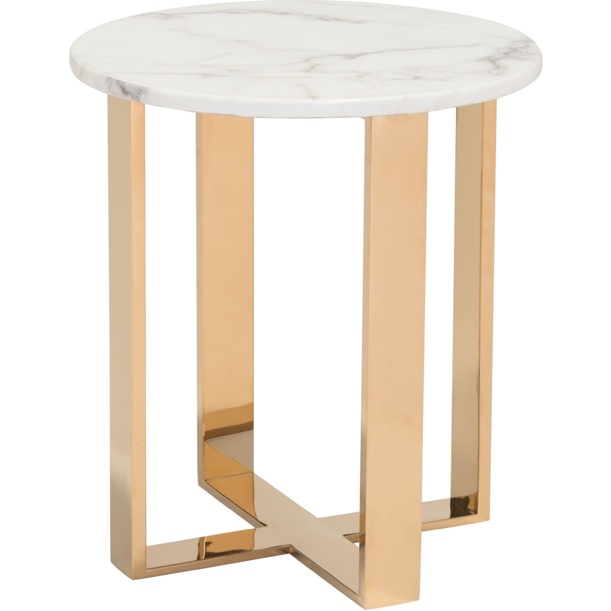 Zuo modern 100653 atlas coffee table w faux marble top on gold atlas end table w faux marble top on gold stainless steel base geotapseo Images