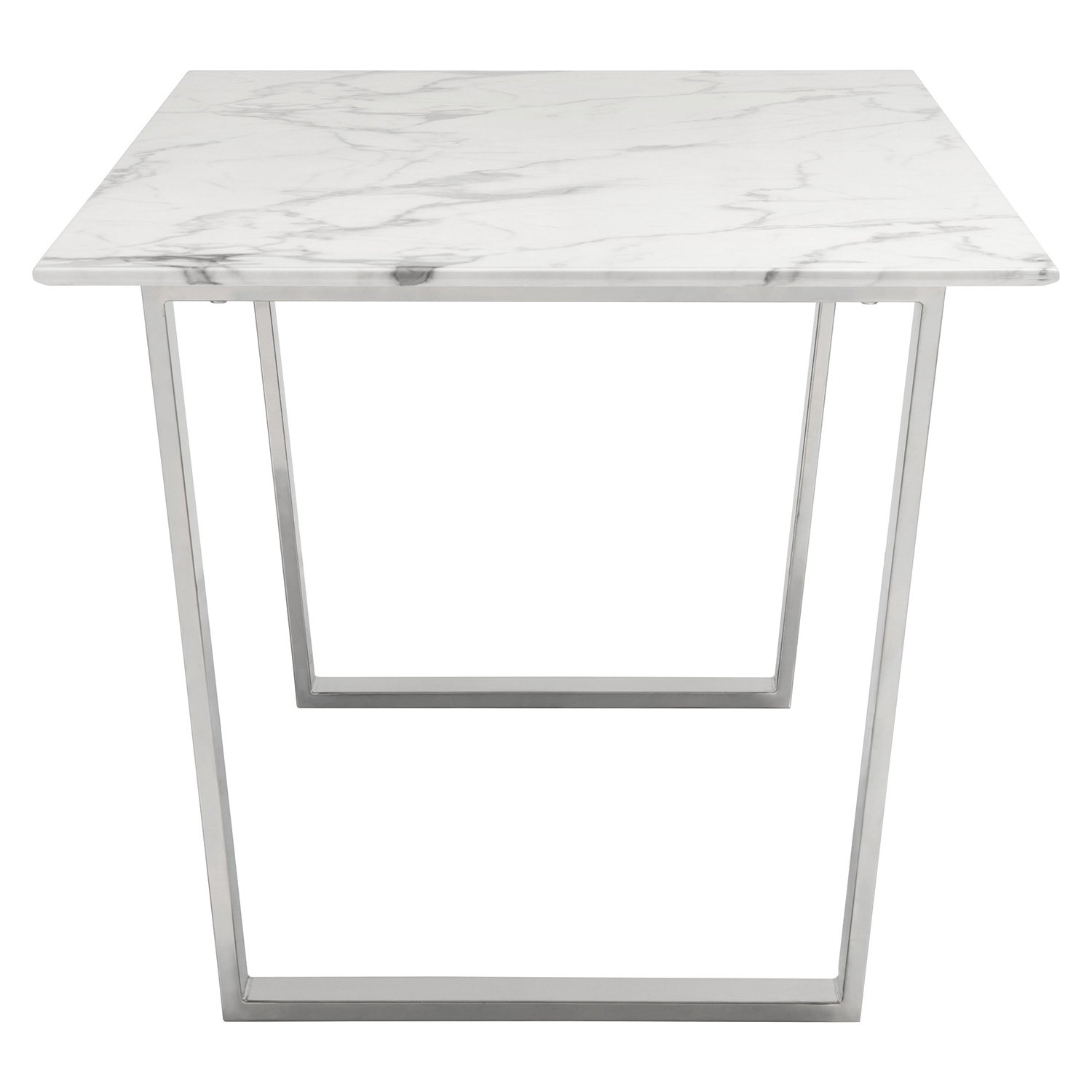 "Zuo Modern Atlas 70"" Dining Table w Faux Marble Top on"