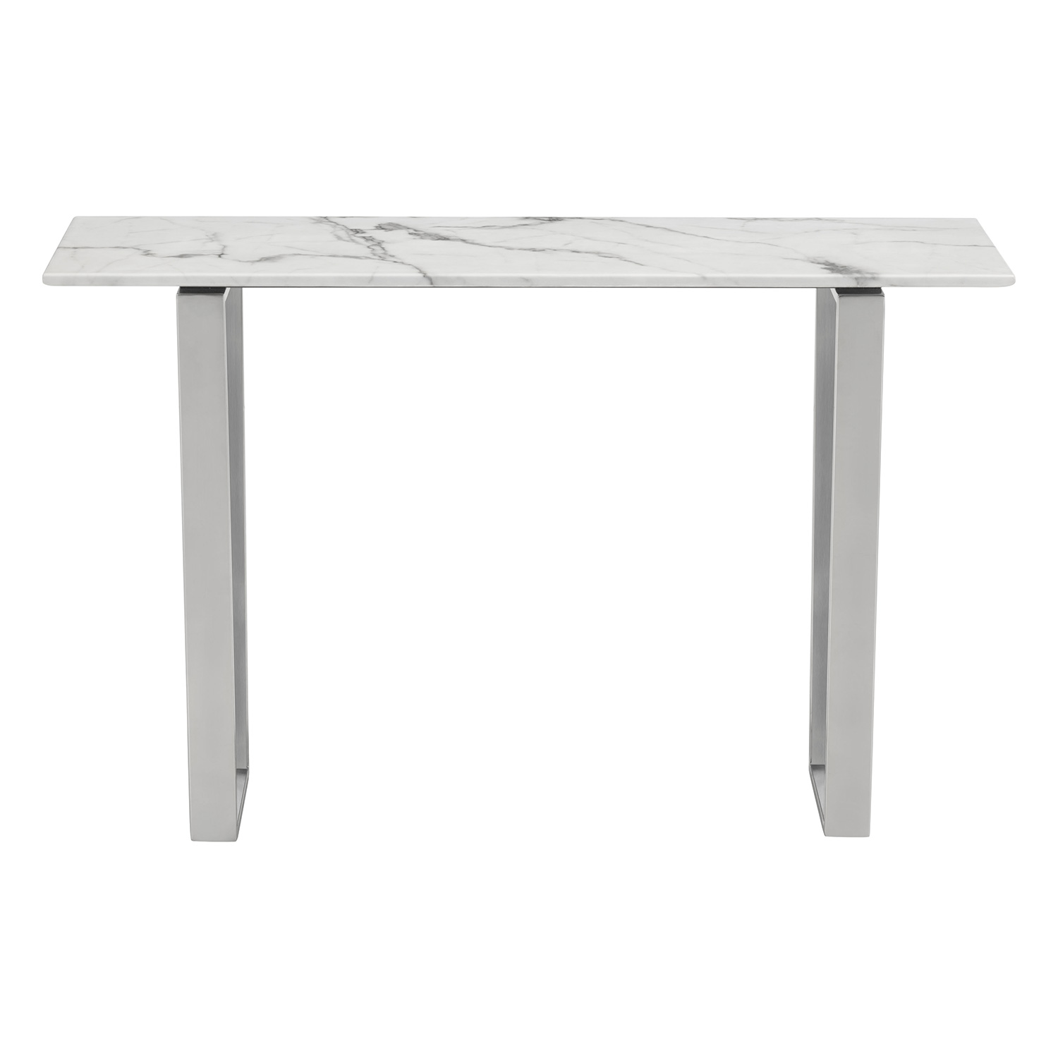 Zuo Modern Atlas Console Table w Faux Marble Top on