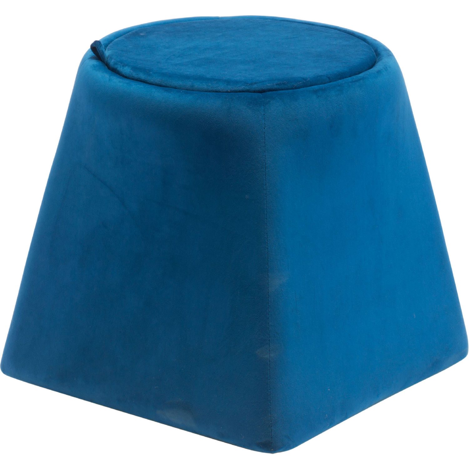 Super Botanical Storage Ottoman In Blue Velvet By Zuo Ocoug Best Dining Table And Chair Ideas Images Ocougorg