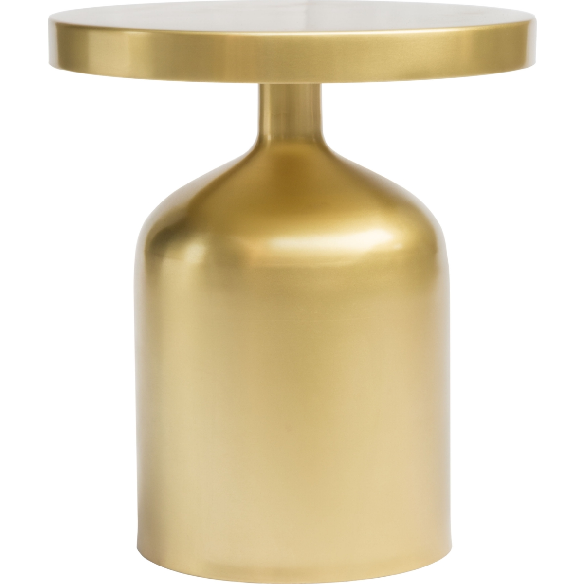Kendal Accent Table W Hourglass Shape In Brass