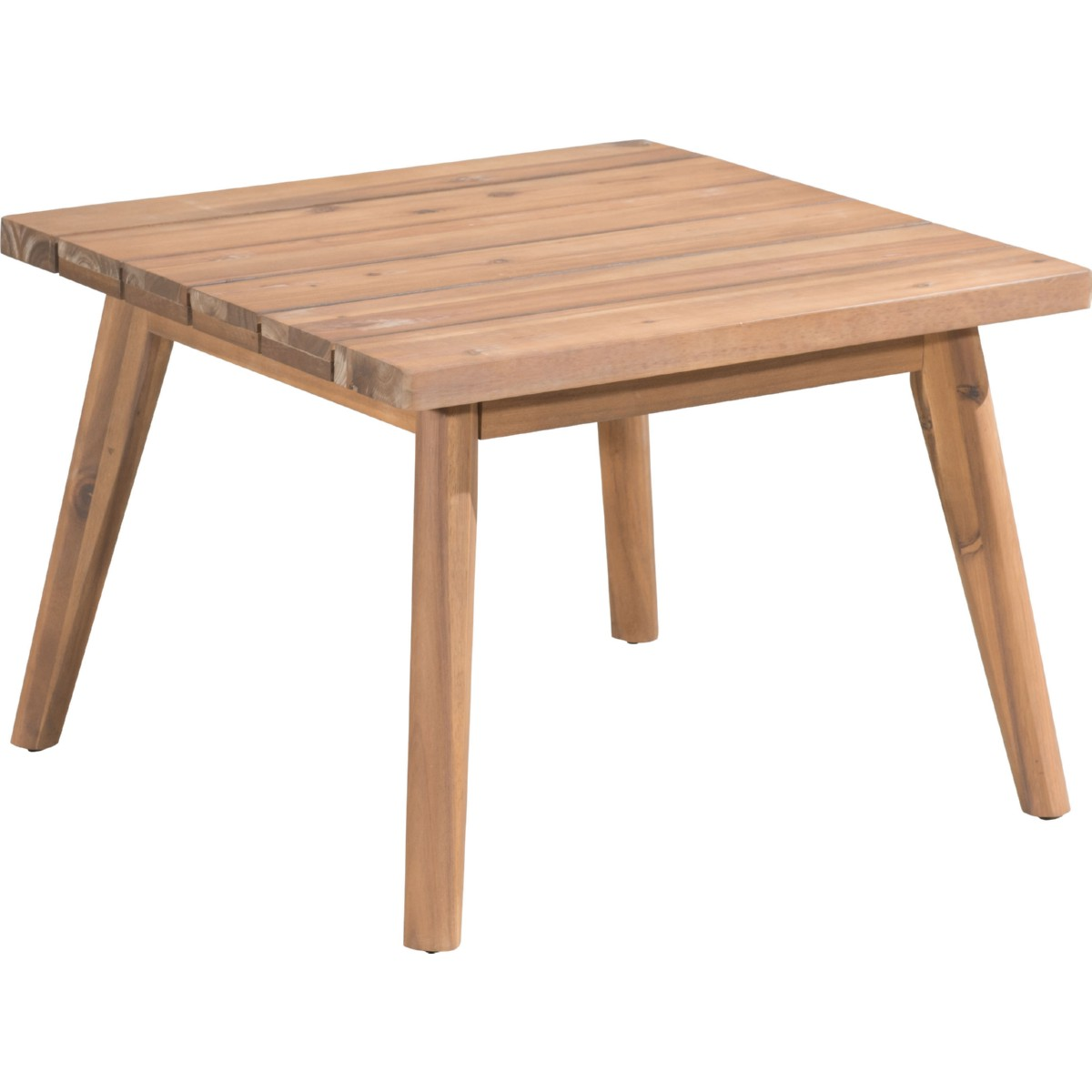 Grace Bay Outdoor Side Table In Natural Acacia W/ Slat Top