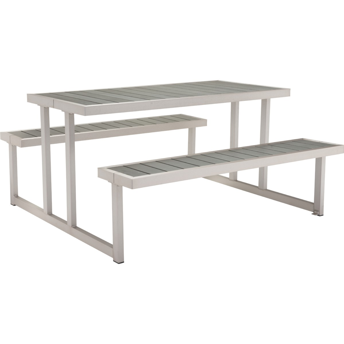 Brilliant Cuomo Picnic Table Benches W Poly Wood Tops On Galanized Aluminum Frame By Zuo Gamerscity Chair Design For Home Gamerscityorg