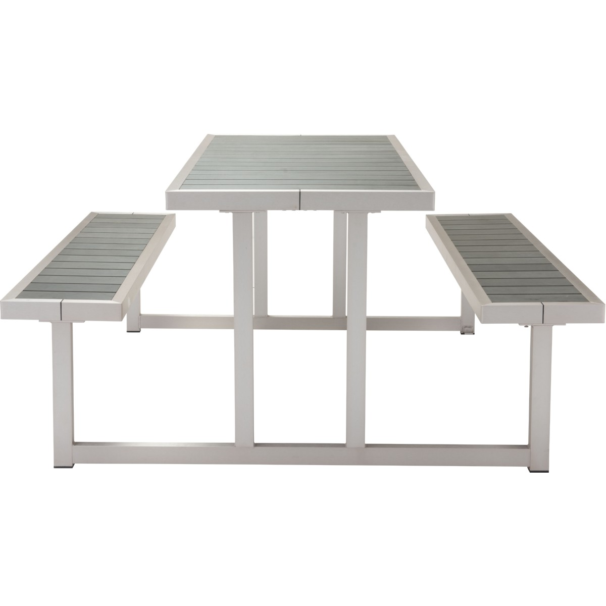 Zuo Cuomo Picnic Table Benches W Poly Wood Tops On - Polywood picnic table with benches