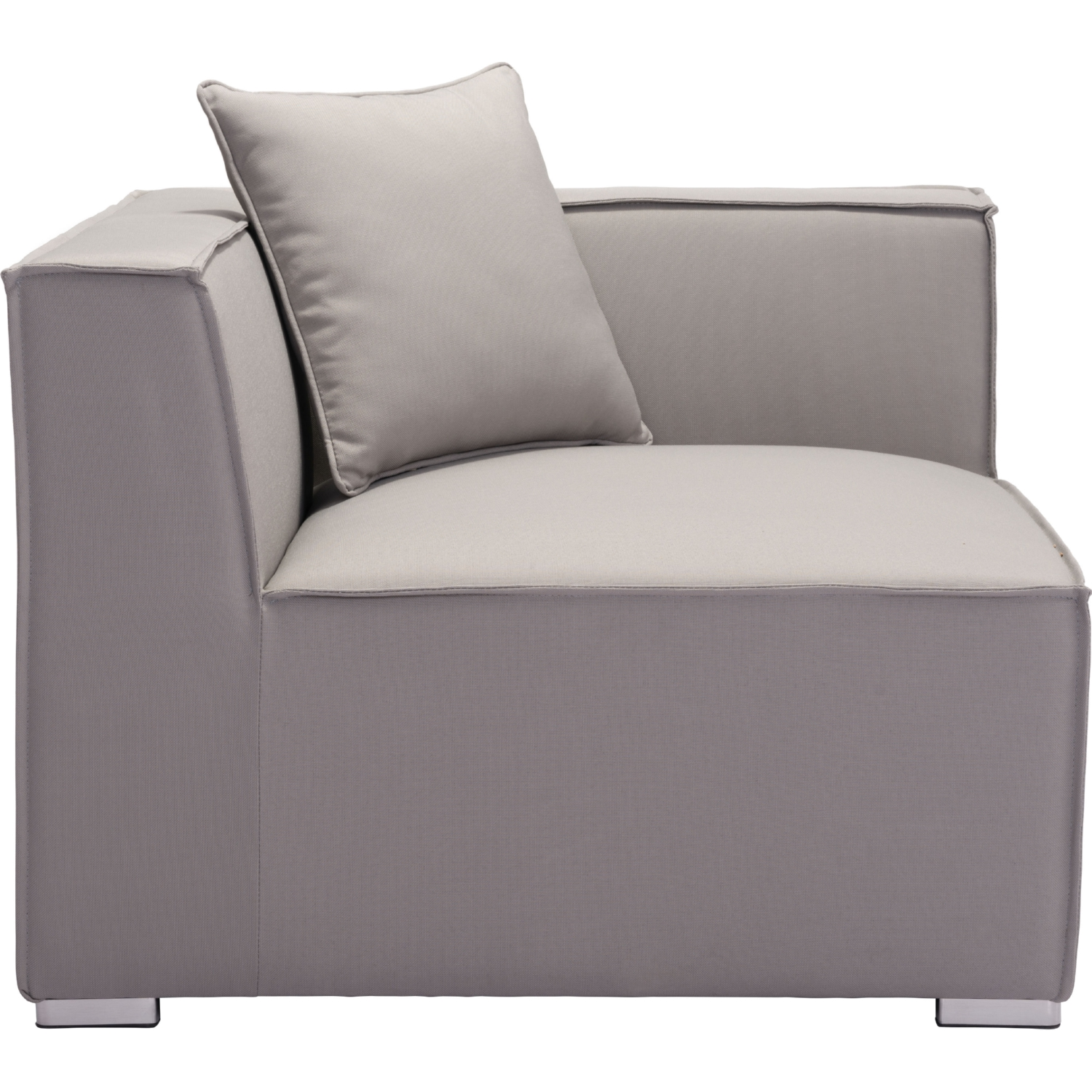 Fiji Outdoor Corner Sectional Chair in Gray Sunproof Fabric  sc 1 st  Dynamic Home Decor : corner sectional chair - Sectionals, Sofas & Couches