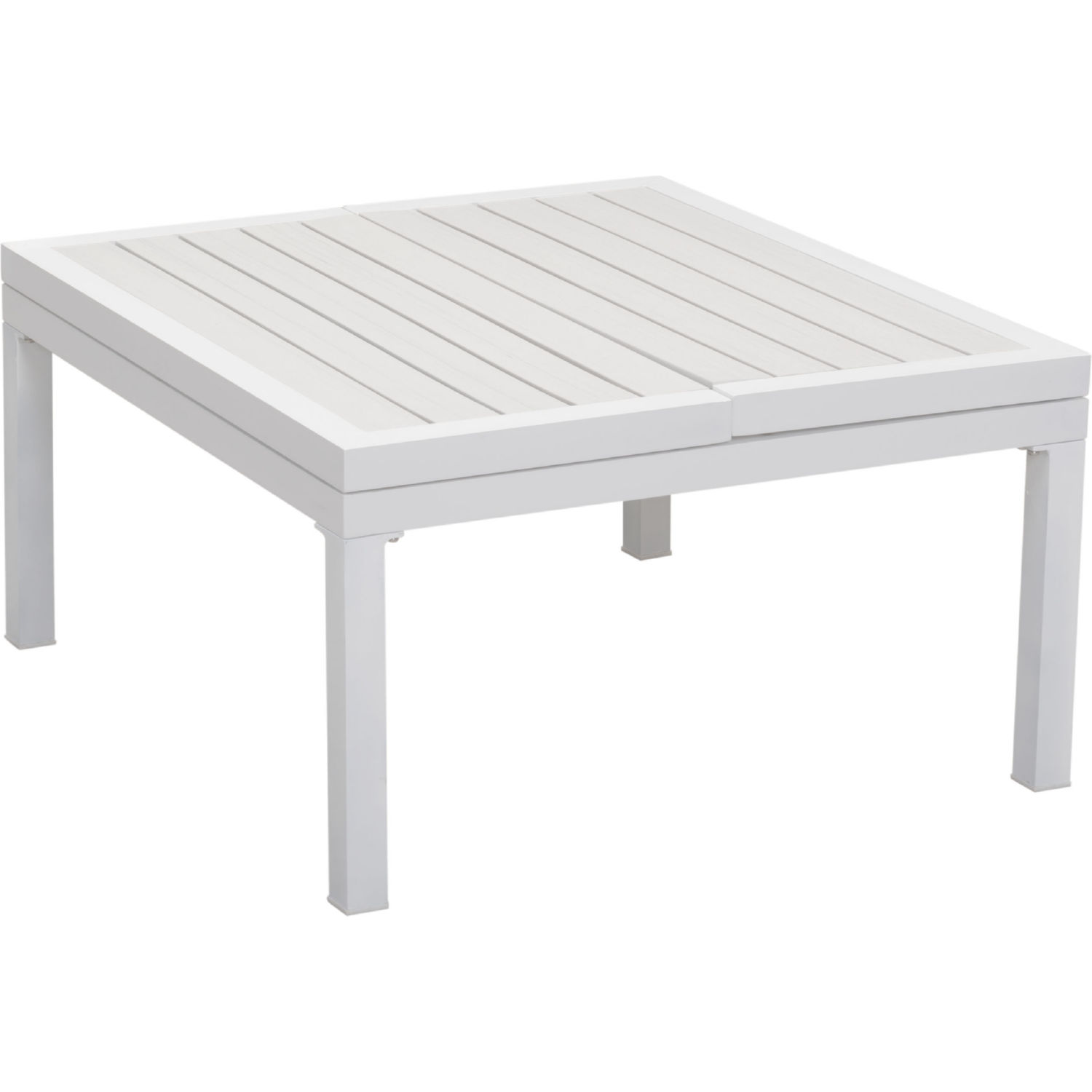 Santorini Outdoor Lift Top Coffee Table In White Polywood Metal By Zuo