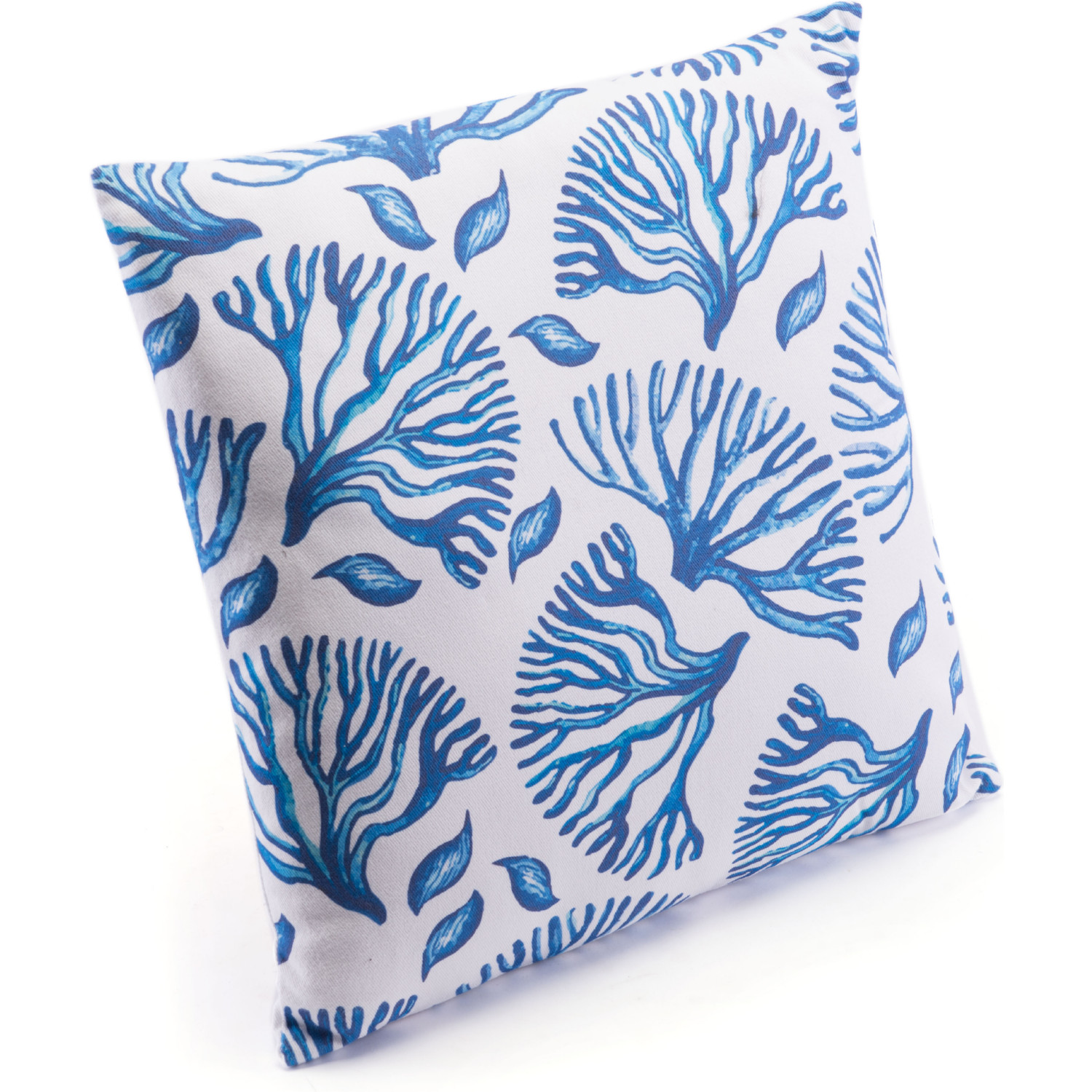 Sensational Blue Coral Pillow In Blue White Denim By Zuo Beatyapartments Chair Design Images Beatyapartmentscom